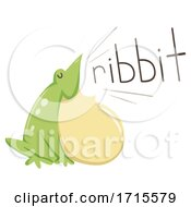 Frog Onomatopoeia Sound Ribbit Illustration
