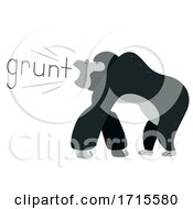 Gorilla Onomatopoeia Sound Grunt Illustration