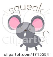 Mouse Onomatopoeia Sound Squeak Illustration