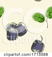 Seamless Acai Berry Background Illustration