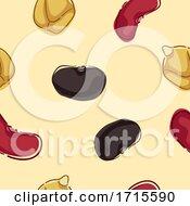 Poster, Art Print Of Seamless Beans Background Illustration