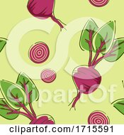 Poster, Art Print Of Seamless Beets Background Illustration