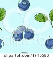 Poster, Art Print Of Seamless Blueberries Background Illustration