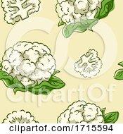 Poster, Art Print Of Seamless Cauliflower Background Illustration