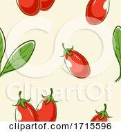Poster, Art Print Of Seamless Goji Berry Background Illustration
