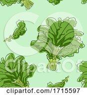 Poster, Art Print Of Seamless Kale Background Illustration
