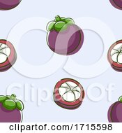 Seamless Mangosteen Background Illustration