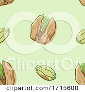 Seamless Pistachio Background Illustration