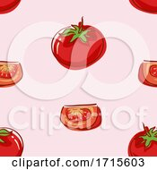 Seamless Tomato Background Illustration