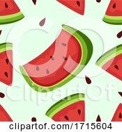 Poster, Art Print Of Seamless Watermelon Background Illustration