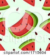 Seamless Watermelon Background Illustration