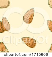 Seamless Almond Background Illustration