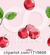 Poster, Art Print Of Seamless Cranberry Background Illustration