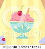 Poster, Art Print Of Seamless Ice Cream Background Illustration