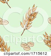 Seamless Oats Background Illustration