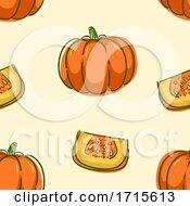 Poster, Art Print Of Seamless Pumpkin Background Illustration