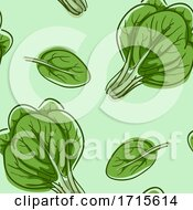 Poster, Art Print Of Seamless Spinach Background Illustration