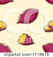 Poster, Art Print Of Seamless Sweet Potato Background Illustration