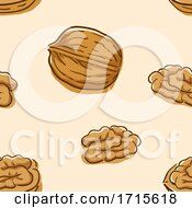 Seamless Walnut Background Illustration