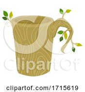 Mug Wooden Organic Utensil Illustration