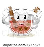 Poster, Art Print Of Mascot Tea Cinnamon Anise Sweden Illustration