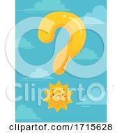 Mascot Sun Question Mark Illustration