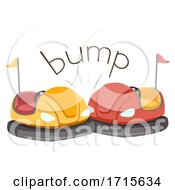 Poster, Art Print Of Bumper Car Onomatopoeia Sound Bump Illustration
