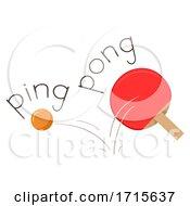 Poster, Art Print Of Table Tennis Onomatopoeia Ping Pong Illustration