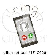 Phone Onomatopoeia Sound Ring Illustration
