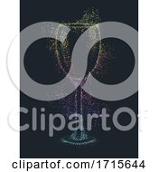 Poster, Art Print Of Wine Pointillism Illustration