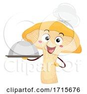 Poster, Art Print Of Mascot Chanterelle Chef Dish Illustration