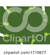 Poster, Art Print Of Steps For Environment Border Illustration
