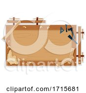Poster, Art Print Of Woodworking Bench Frame Illustration