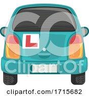 Car Back Learner Mark Illustration