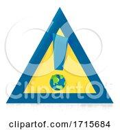 Poster, Art Print Of Earth Warning Sign Illustration