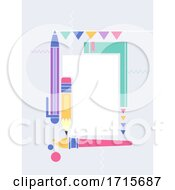School Festival Education Flat Frame Illustration