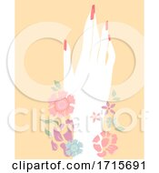Hand Floral Manicured Illustration