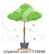 Plant Tree Shovel Arbor Day Illustration