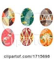 Poster, Art Print Of Easter Ukraine Pysanka Eggs Design Illustration