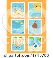 Summer Stamps Illustration