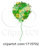 Poster, Art Print Of Balloon Tropical Leaves Illustration