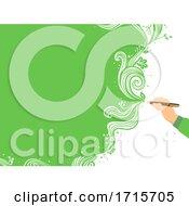 Poster, Art Print Of Hand Write Nature Illustration