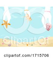 Poster, Art Print Of Shells Souvenirs Collect Illustration