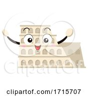 Mascot Roman Colosseum Illustration