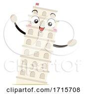 Mascot Tower Of Pisa Illustration
