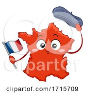 Mascot Country France Flag Illustration