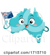Poster, Art Print Of Mascot Country Australia Flag Illustration
