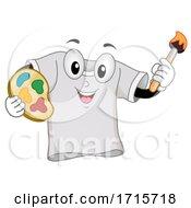 Poster, Art Print Of Mascot Shirt Painting Illustration