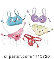Mascot Women Underwear Illustration