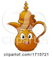 Poster, Art Print Of Mascot Dallah Qatar Coffee Pot Illustration